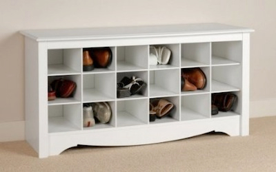 Shoe Cubby Bench