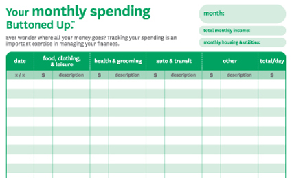 printable monthly expense tracker