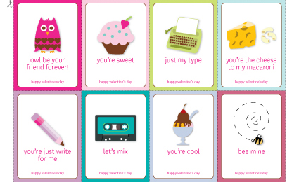photograph relating to Printable Valentine Day Cards for Kids named Free of charge printable Valentines Working day playing cards Â« Buttoned Up